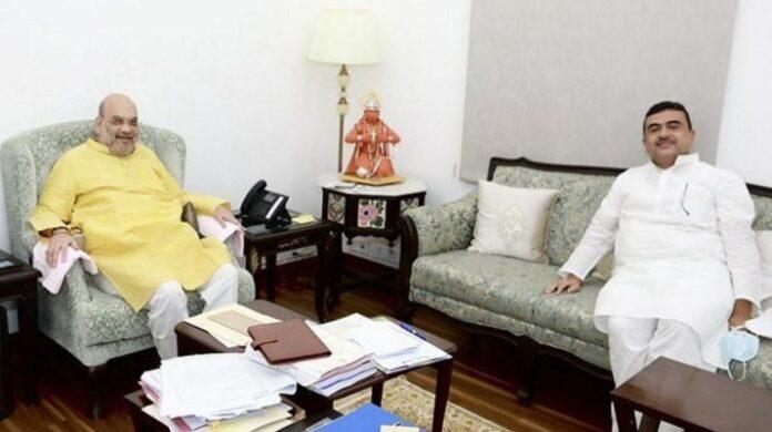 Shubhendra Adhikari meet Amit Shah