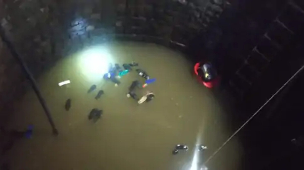 girl fell in a well