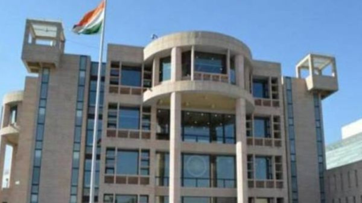Indian diplomats leave embassy